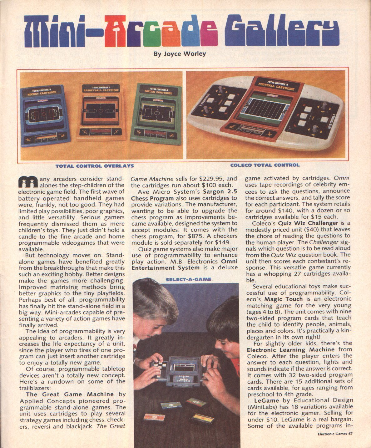 Electronic Games - July 1982