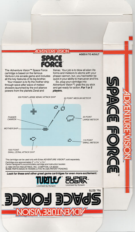 Back of Space Force box.