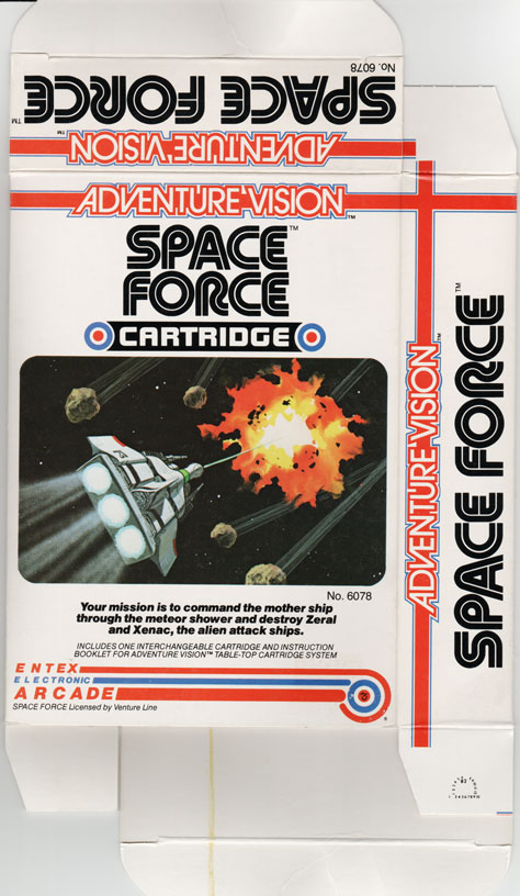 Front of Space Force box.